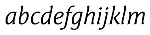 Epigraph Italic Font LOWERCASE