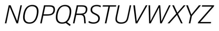 Epoca Pro Light Italic Font UPPERCASE