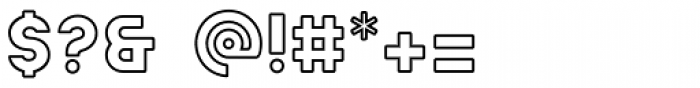 Ephesus ExtraBold Outline Font OTHER CHARS