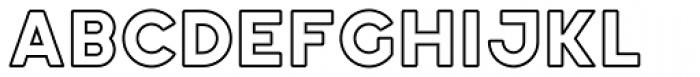 Ephesus ExtraBold Outline Font LOWERCASE