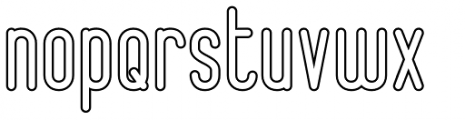 Epicentrum Outline Font LOWERCASE