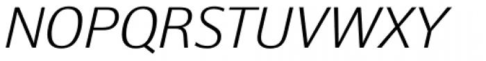 Epoca Classic ExtraLight Italic Font UPPERCASE