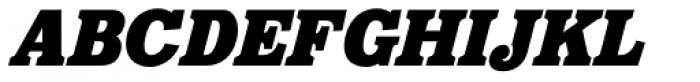Eponymous Black Italic Font UPPERCASE