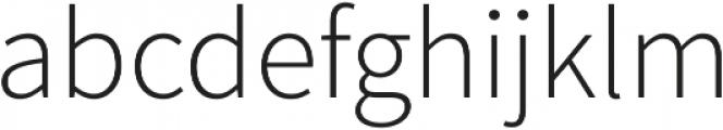 Equilibrium Light otf (300) Font LOWERCASE