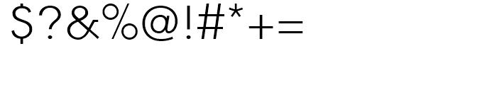 Equalis Light Font OTHER CHARS