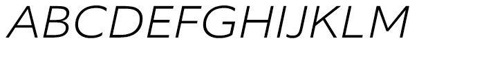 Equip Extended ExtraLight Italic Font UPPERCASE