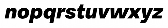 Equitan Sans Black Italic Font LOWERCASE