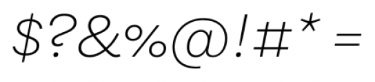 Equitan Sans Extra Light Italic Font OTHER CHARS