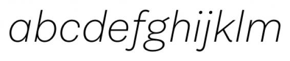 Equitan Sans Extra Light Italic Font LOWERCASE