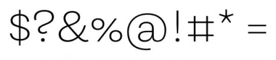 Equitan Sans Extra Light Font OTHER CHARS