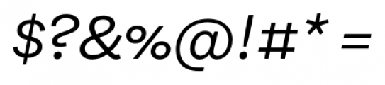 Equitan Sans Italic Font OTHER CHARS