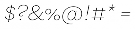 Equitan Sans Thin Italic Font OTHER CHARS