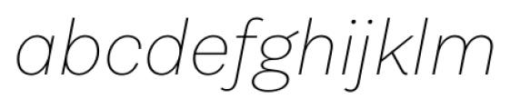Equitan Sans Thin Italic Font LOWERCASE