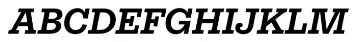 Equitan Slab Bold Italic Font UPPERCASE