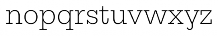 Equitan Slab Extra Light Font LOWERCASE