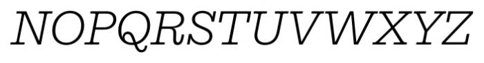 Equitan Slab Light Italic Font UPPERCASE