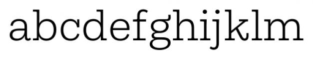 Equitan Slab Light Font LOWERCASE