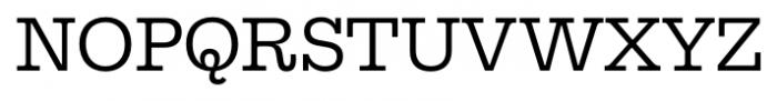 Equitan Slab Regular Font UPPERCASE