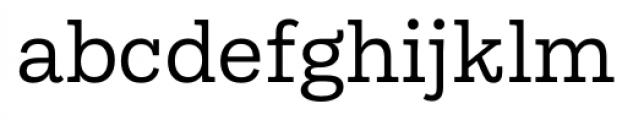 Equitan Slab Regular Font LOWERCASE
