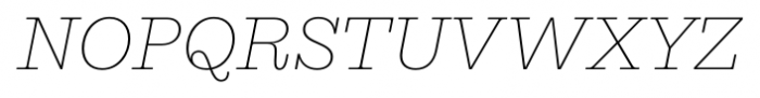 Equitan Slab Thin Italic Font UPPERCASE