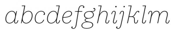Equitan Slab Thin Italic Font LOWERCASE