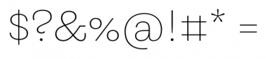 Equitan Slab Thin Font OTHER CHARS