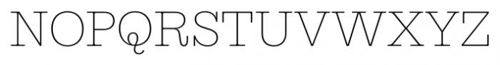 Equitan Slab Thin Font UPPERCASE