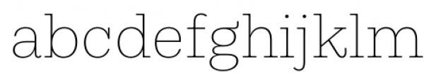 Equitan Slab Thin Font LOWERCASE