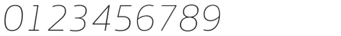 EQ Pro Thin Italic Font OTHER CHARS