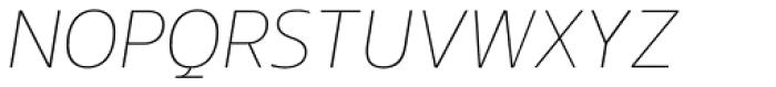 EQ Pro Thin Italic Font UPPERCASE