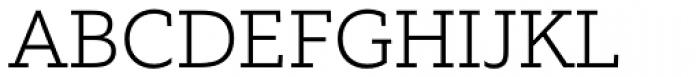 Equip Slab ExtraLight Font UPPERCASE