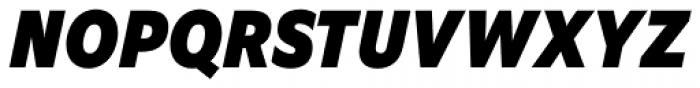 EquipCondensed Black Italic Font UPPERCASE