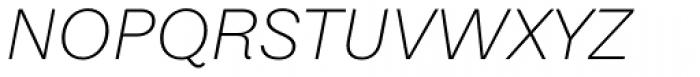 Equitan Sans Extra Light Italic Font UPPERCASE