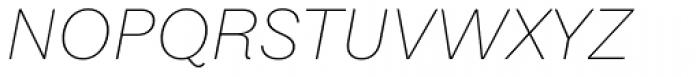 Equitan Sans Thin Italic Font UPPERCASE