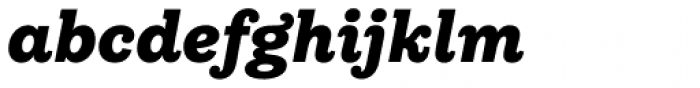 Equitan Slab Black Italic Font LOWERCASE