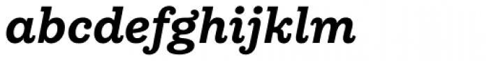 Equitan Slab Bold Italic Font LOWERCASE