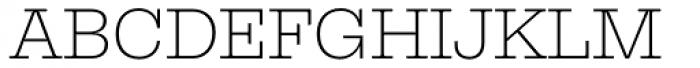 Equitan Slab Extra Light Font UPPERCASE
