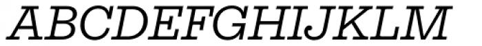 Equitan Slab Italic Font UPPERCASE