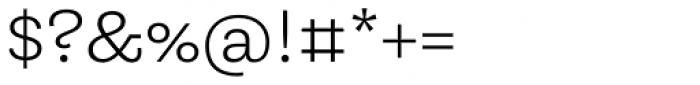 Equitan Slab Light Font OTHER CHARS