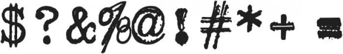 ErasedTypewriter2 Regular otf (400) Font OTHER CHARS