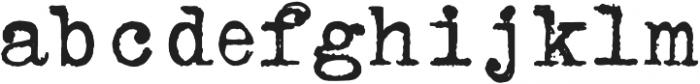 ErasedTypewriter2 Regular otf (400) Font LOWERCASE