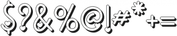 Ericlaire Shadow otf (400) Font OTHER CHARS