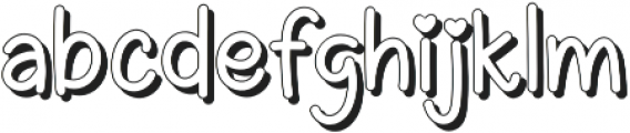 Ericlaire Shadow otf (400) Font LOWERCASE