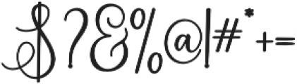 Eritta Script Bold Bold otf (700) Font OTHER CHARS