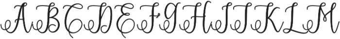 Eritta Script Bold Bold otf (700) Font UPPERCASE