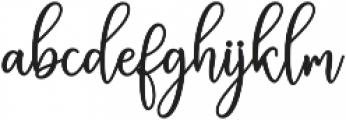 Eritta Script Bold Bold otf (700) Font LOWERCASE