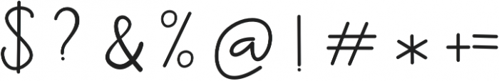 Ernita otf (400) Font OTHER CHARS