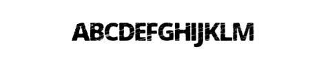 ErodedOpenS Font UPPERCASE