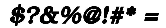 ER Bukinist 1251 Bold Italic Font OTHER CHARS