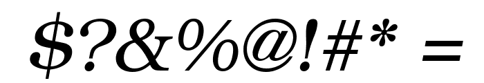 ER Bukinist 1251 Italic Font OTHER CHARS